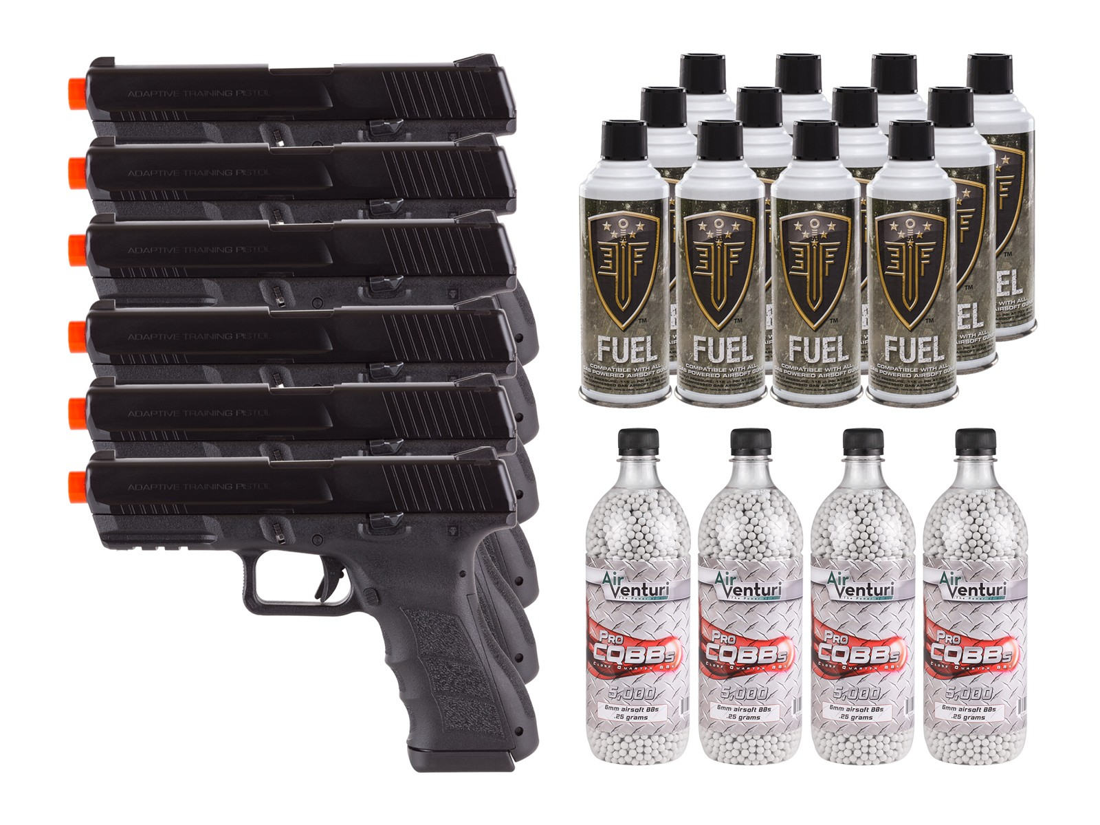 KWA ATP Adaptive Training Airsoft Pistol, 6 Pack 6mm