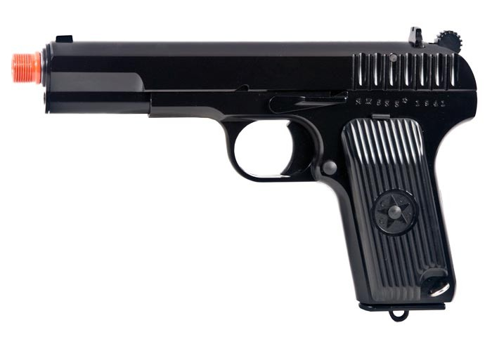 WE TT-33 Gas Blowback Metal Airsoft Pistol, Black