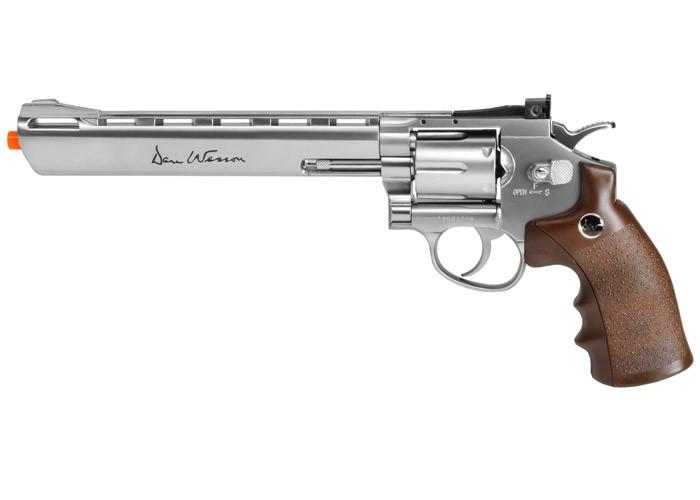 """Dan Wesson CO2 Airsoft Revolver, Silver, 8"""""""