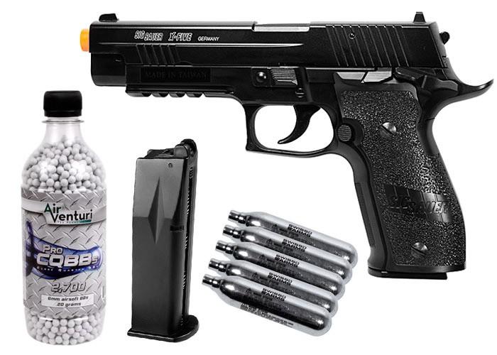 Sig Sauer P226 X Five Co2 Metal Airsoft Pistol Kit
