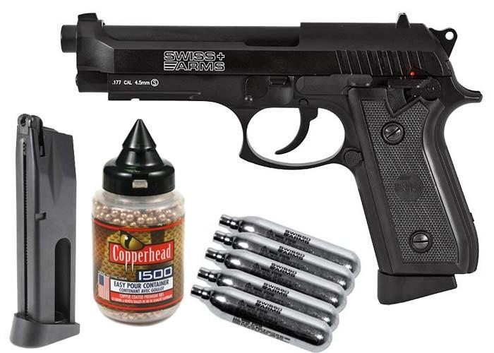 Cheap Swiss Arms P92 Full Metal CO2 Blowback Pistol Kit 0.177