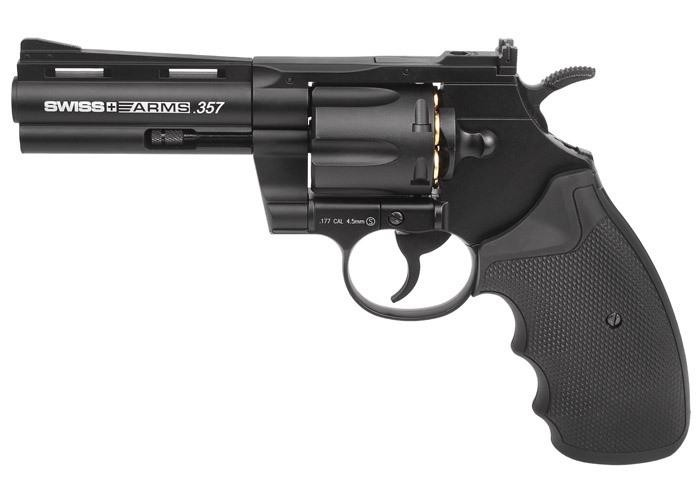 Swiss Arms .357 Metal CO2 BB Revolver, 4""