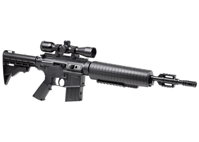 Crosman M4-177 Air Rifle Combo, Black 0.177 Image