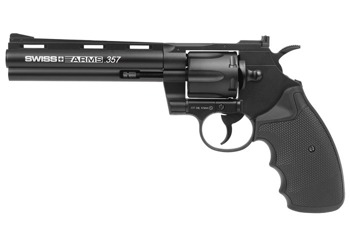Swiss Arms .357 Metal CO2 BB Revolver, 6""