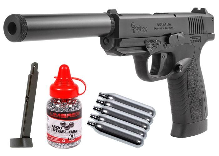 Cheap Bersa BP9CC CO2 Blowback BB Pistol Kit, Black 0.177