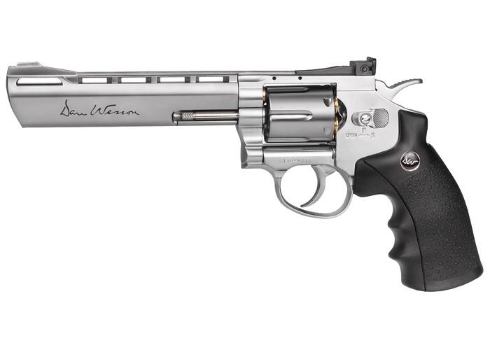 "Dan Wesson 6"" CO2 Pellet Revolver, Silver"