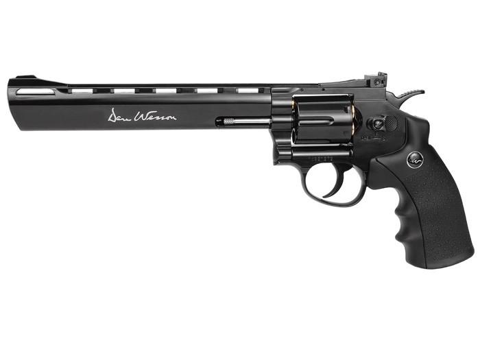 "Dan Wesson 8"" CO2 Pellet Revolver, Black"
