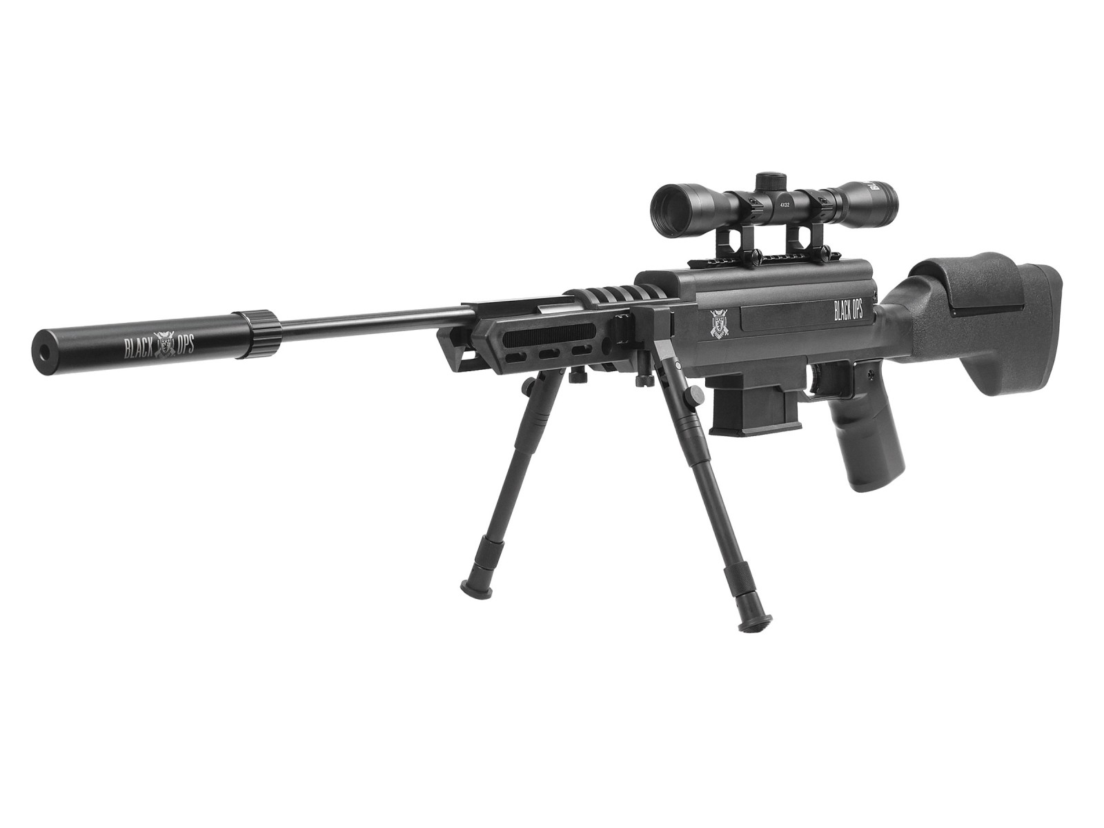 Cheap Black Ops Tactical Sniper Air Rifle Combo 0.22