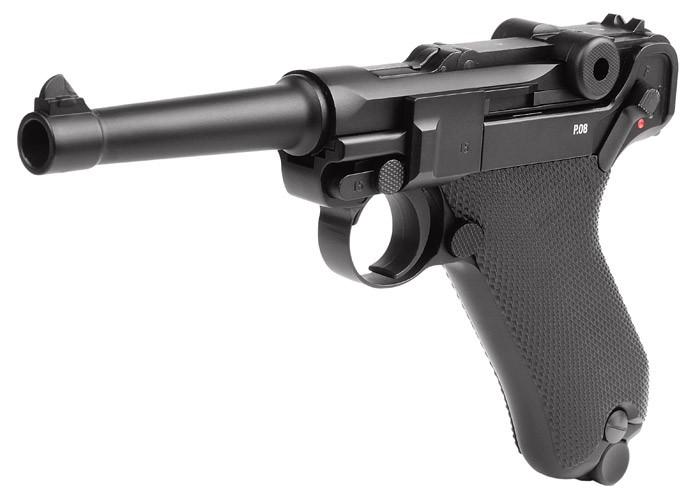 KWC Umarex Legends Blowback P08 CO2 Pistol, Full Metal. Air guns