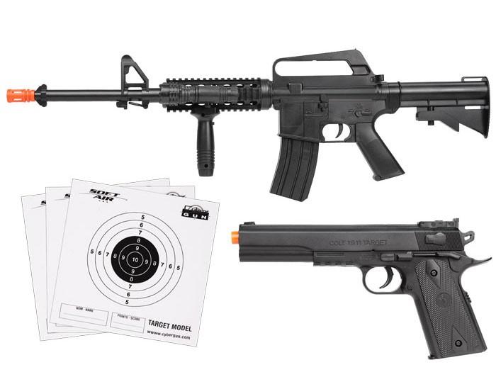 Colt_A11RIS_M1911_Spring_Airsoft_Kit_Black_6mm