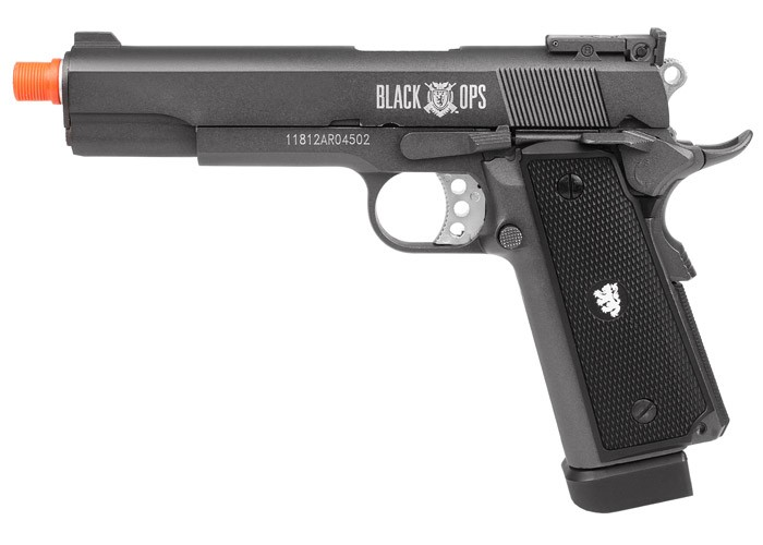 Black Ops 1911 Scorpion Metal CO2 Airsoft Pistol. Airsoft guns