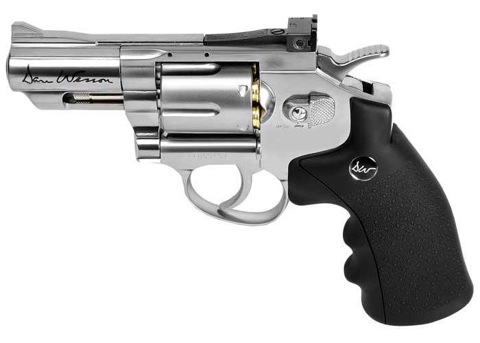 Cheap Dan Wesson 2.5″ CO2 Pellet Revolver, Silver 0.177