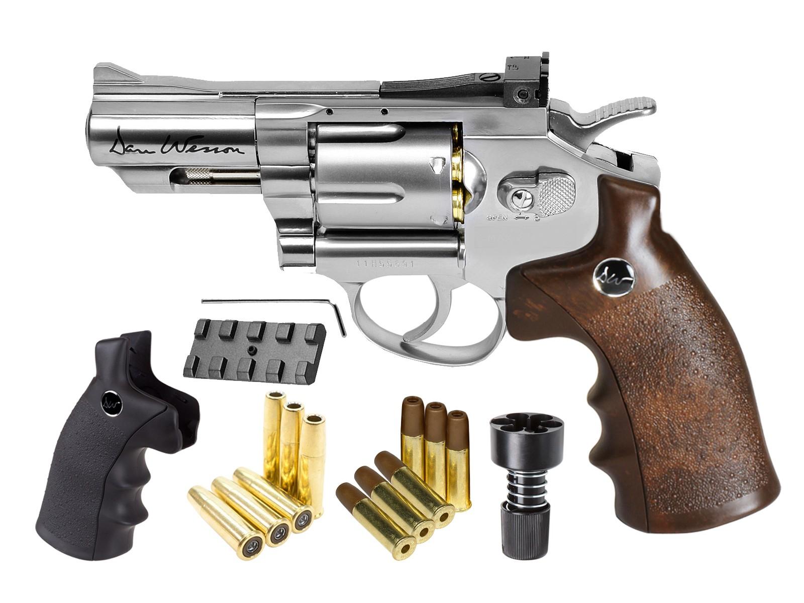 "Dan Wesson CO2 BB Dual Ammo, Dual Grip Revolver Kit, 2.5"" 0.177 Image"