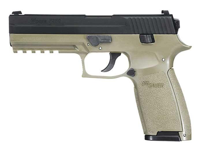 SIG Sauer P250 CO2 Pistol, Metal Slide, OD Green