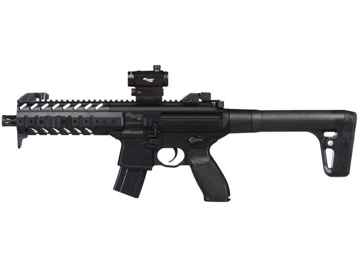 SIG Sauer MPX CO2 Rifle, Dot Sight, Black