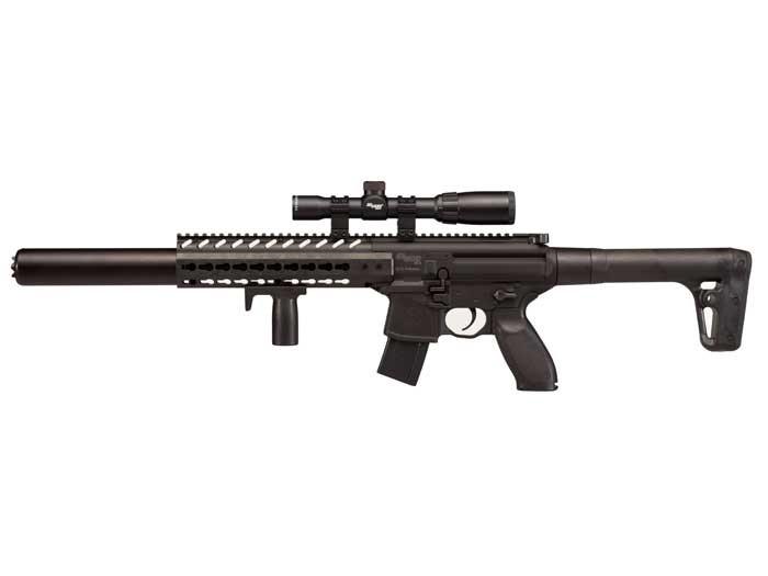 SIG Sauer MCX CO2 Rifle + Scope, Black 0.177