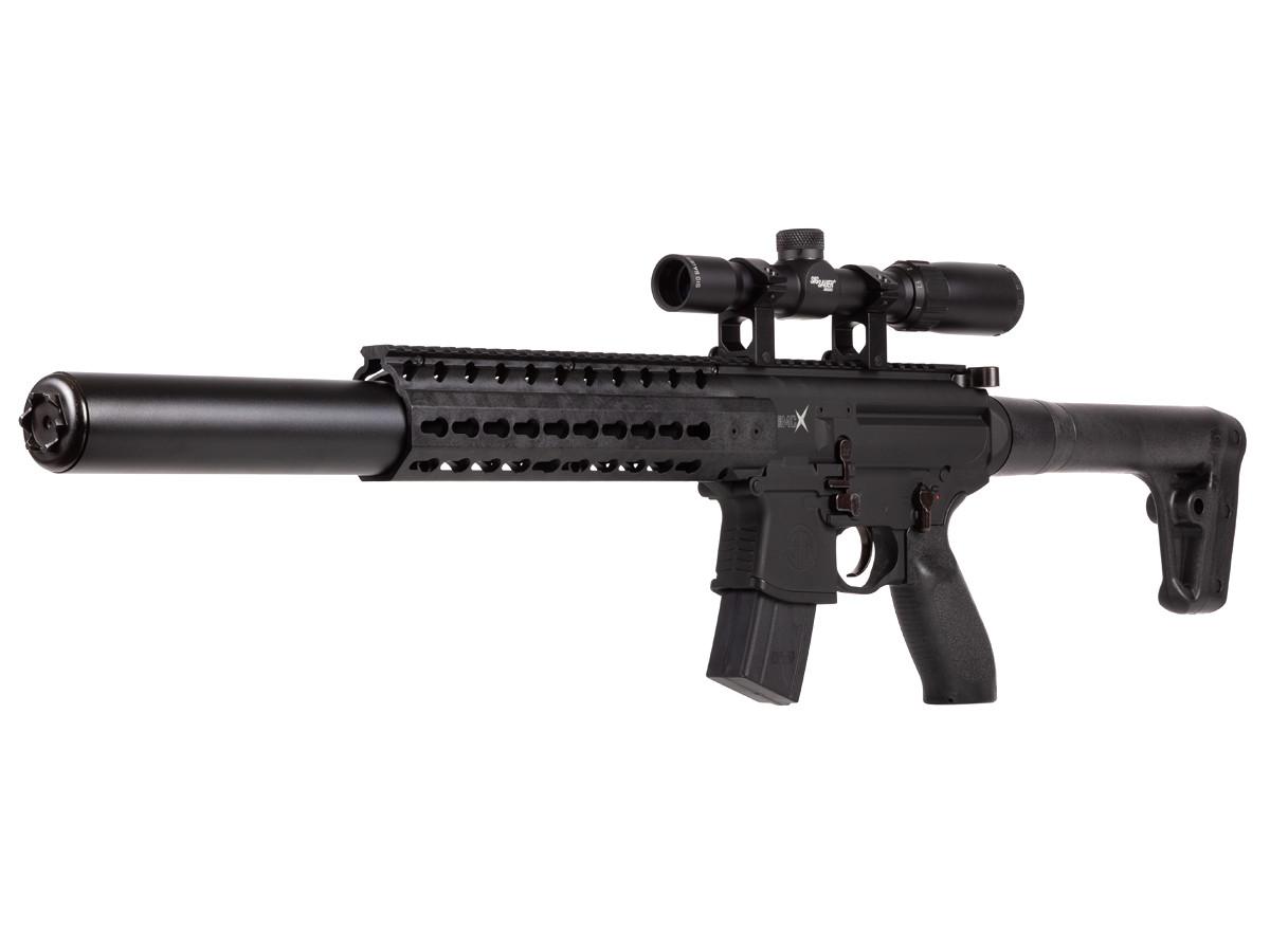 SIG Sauer MCX CO2 Rifle + Scope, Black
