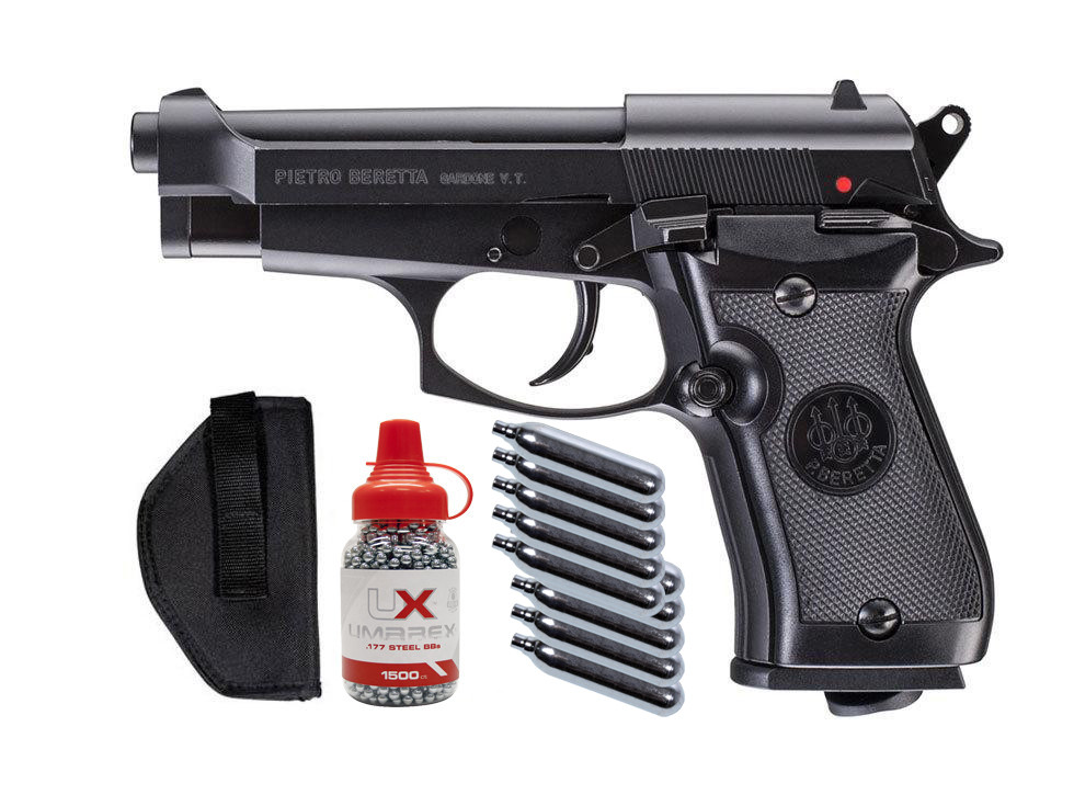 Beretta M84FS CO2 BB Blowback Metal Pistol Kit 0.177