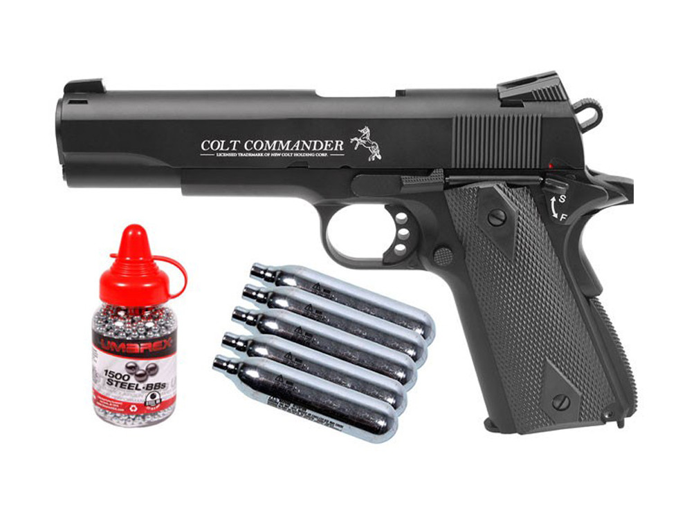 Colt Commander BB CO2 Blowback Pistol Kit 0.177
