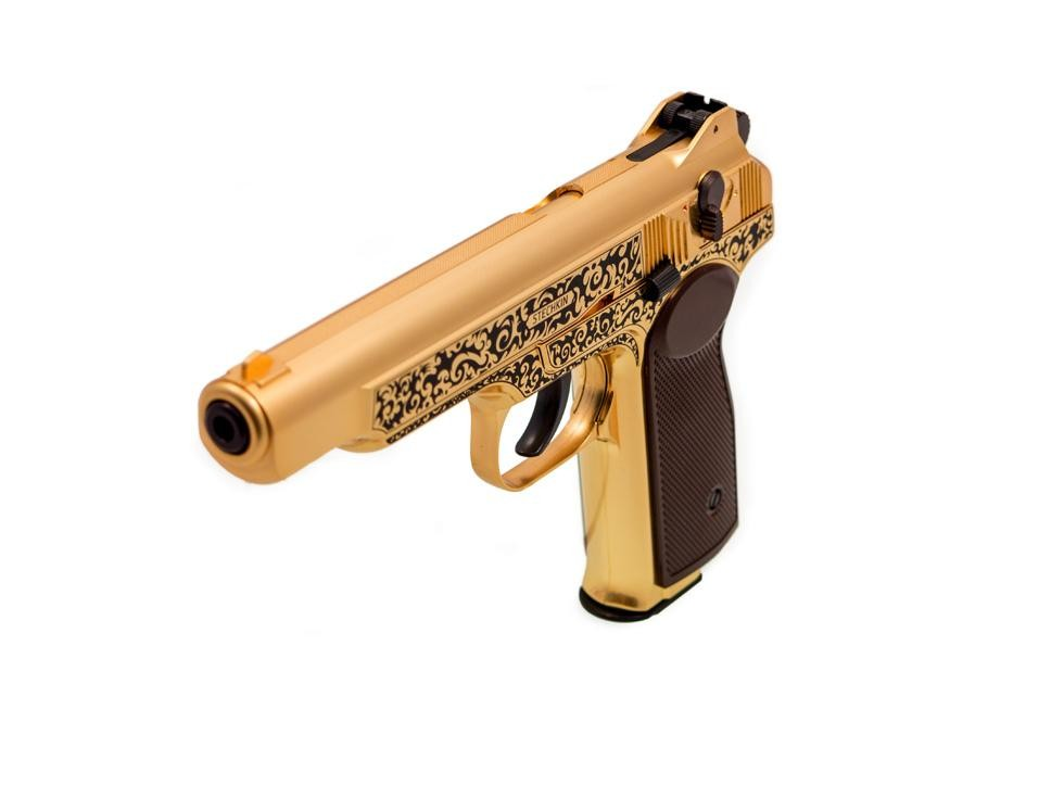 Gletcher Stechkin APS Gold Blowback CO2 BB Pistol 0.177 Image