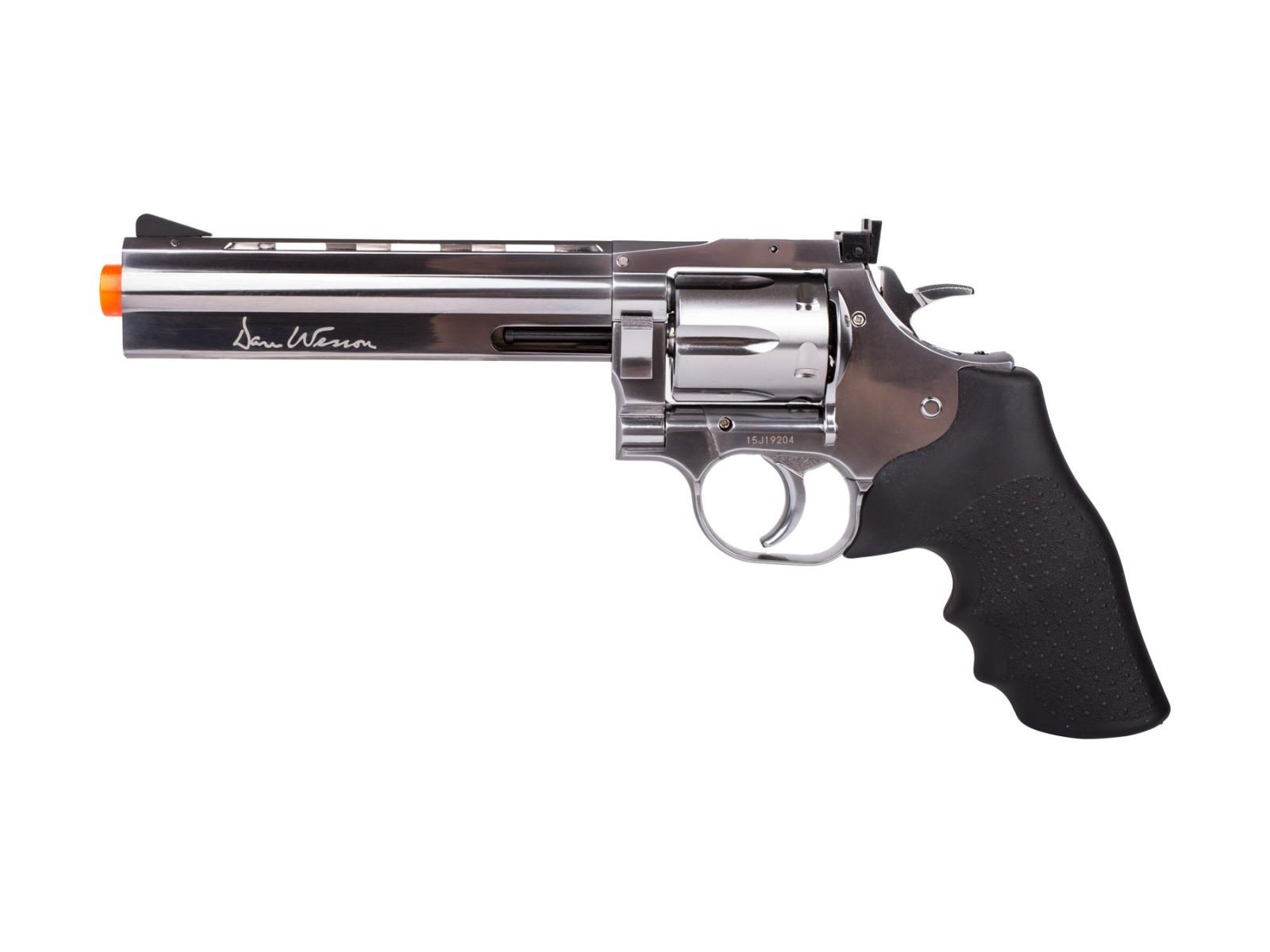"""Dan Wesson 715 6"""" CO2 Airsoft Revolver, Silver"""