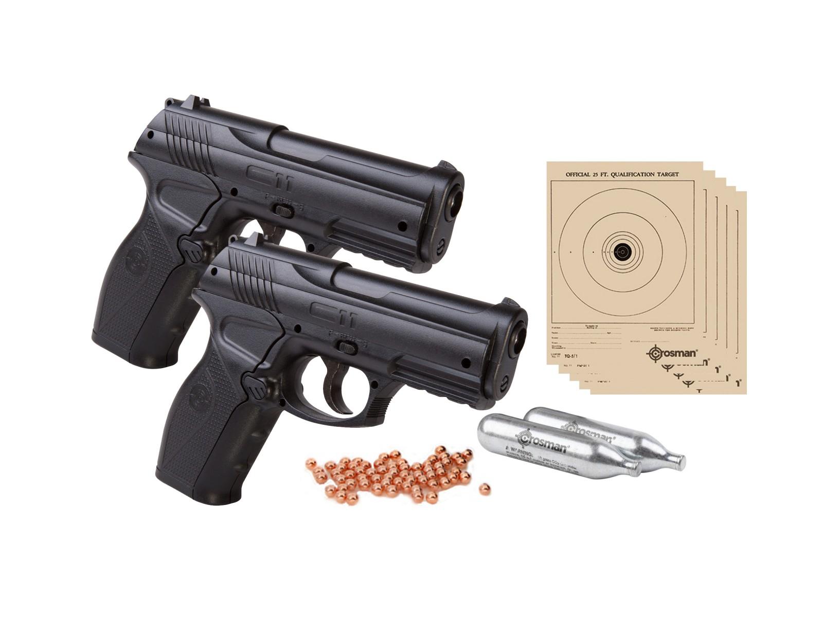 Crosman c11 double down bb gun kit cal 20rd bb for Www bb