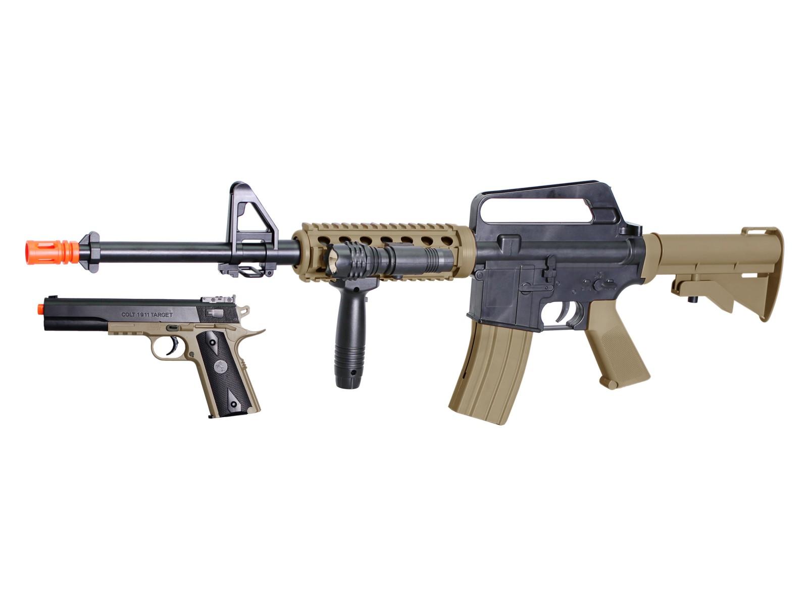 Colt_M4_RIS_&_1911_Spring_Airsoft_Kit_BlackTan_6mm