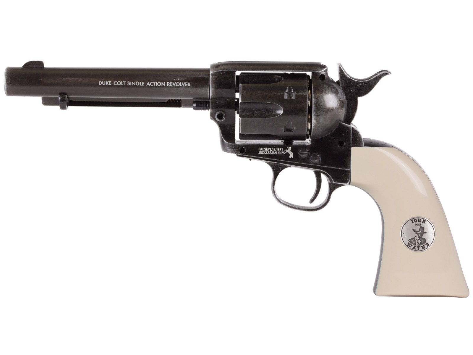 Cheap Duke Shootist CO2 Weathered Pellet Revolver, Limited Edition 0.177