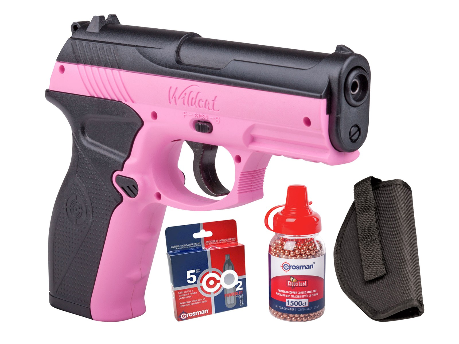 Crosman Wildcat CO2 Pistol BB Kit 0.177