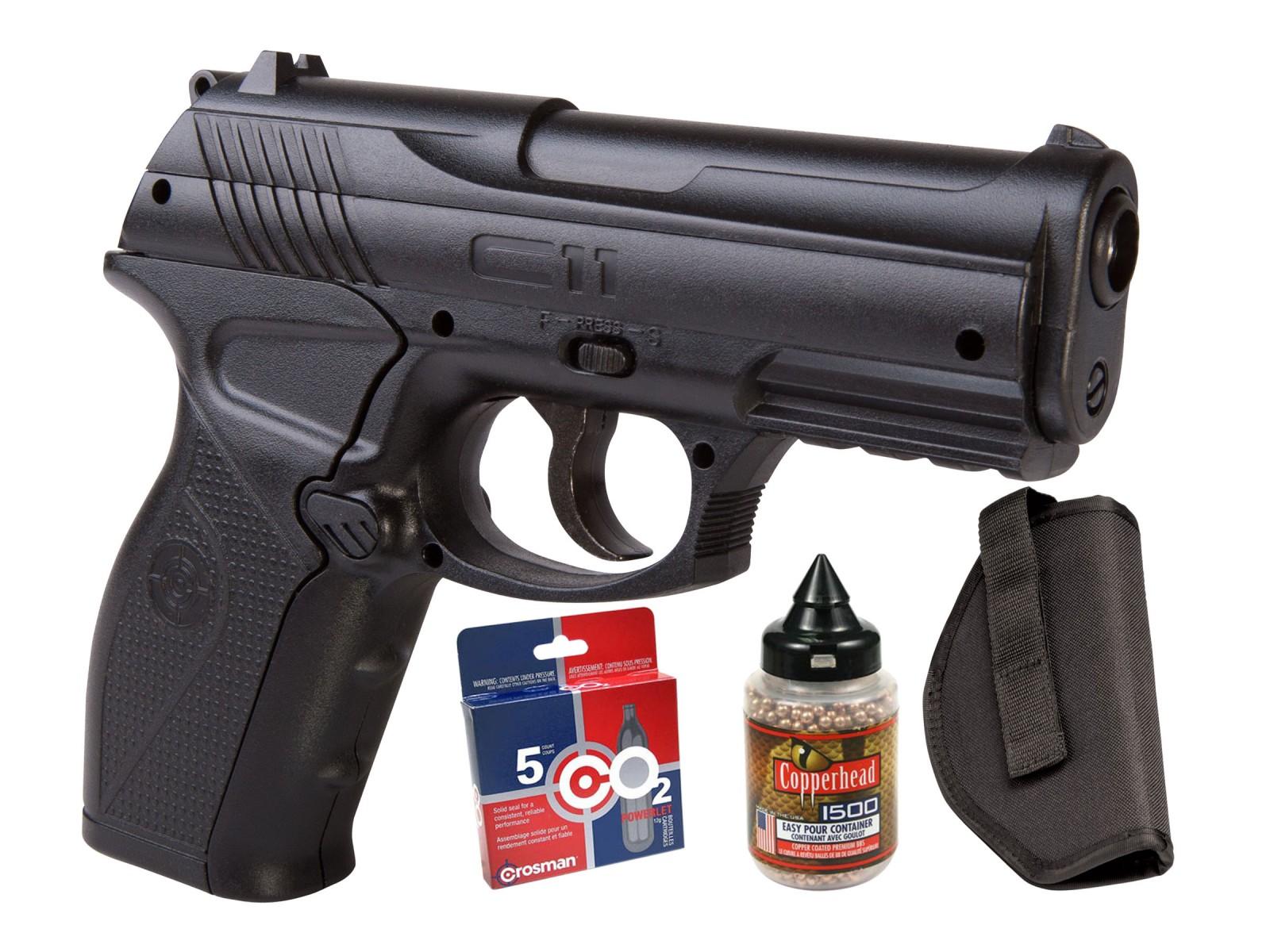 Crosman c11 semi auto air pistol co2 bb kit air guns for Www bb