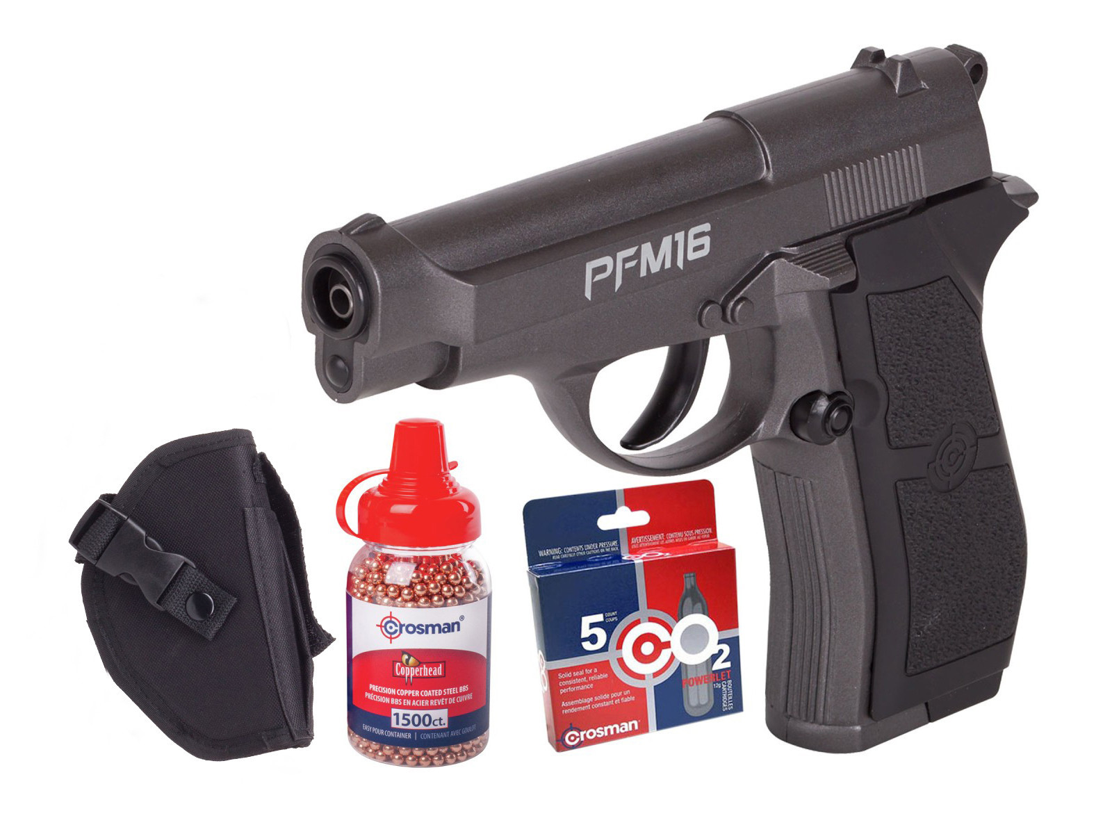 Crosman PFM16 Full Metal CO2 BB Pistol Kit 0.177