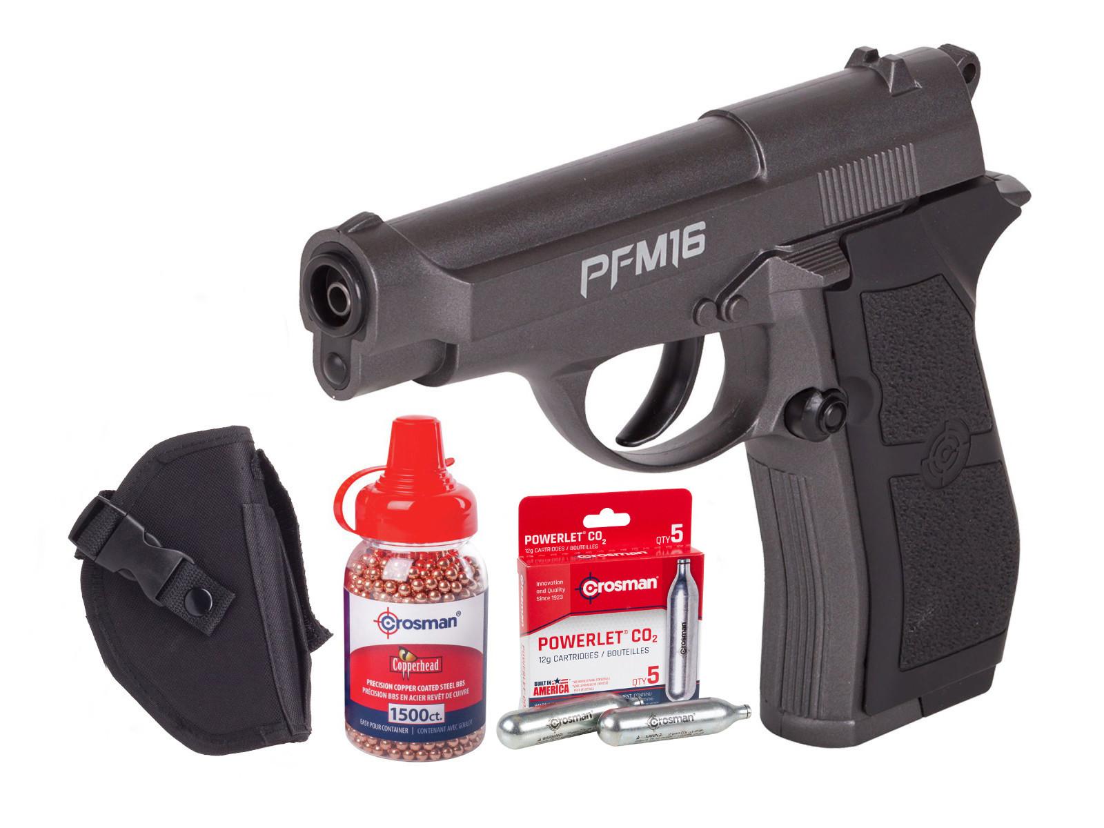 Crosman PFM16 Full Metal CO2 BB Pistol Kit