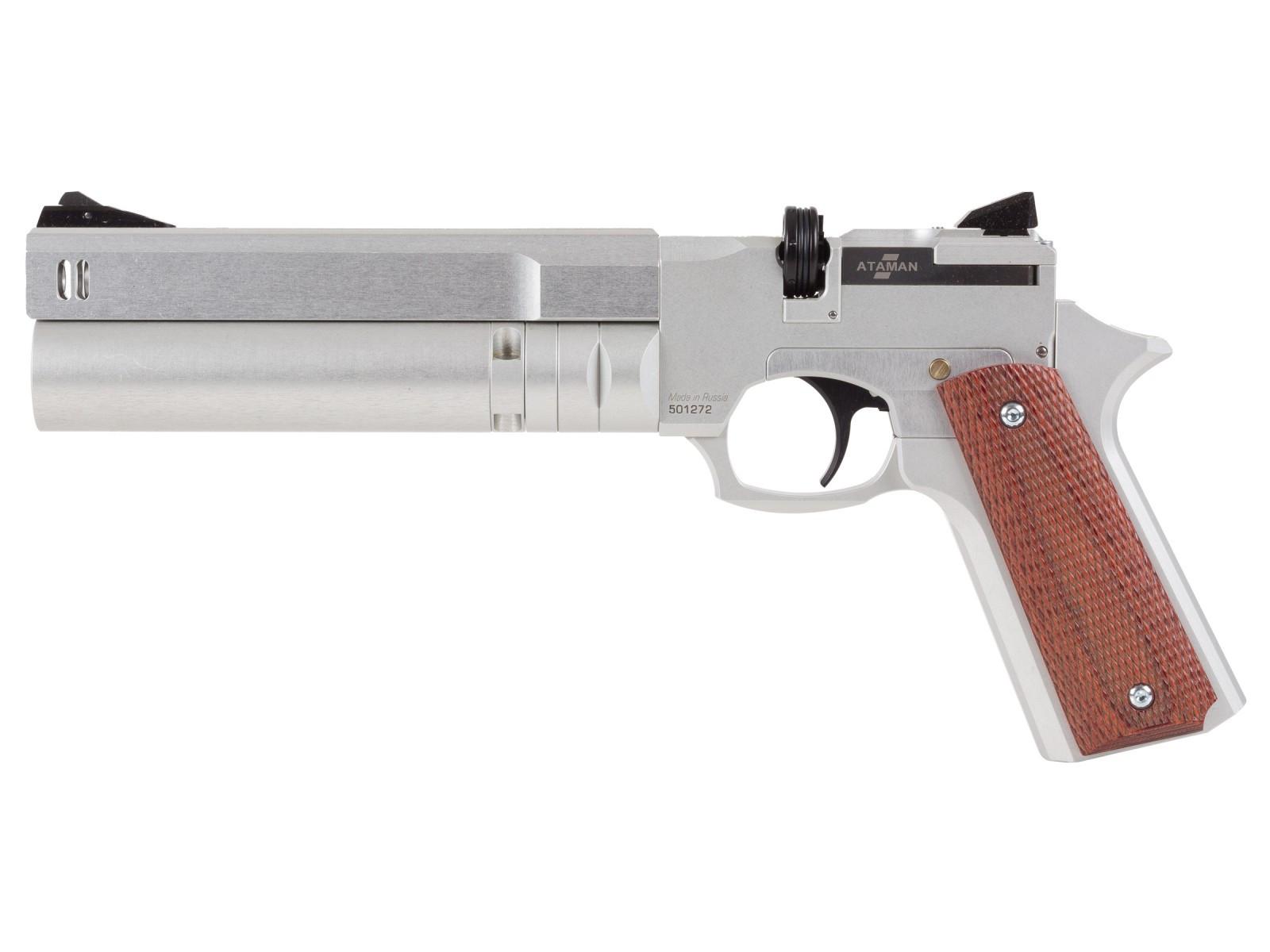 Ataman AP16 Regulated Compact Air Pistol, Silver 0.22
