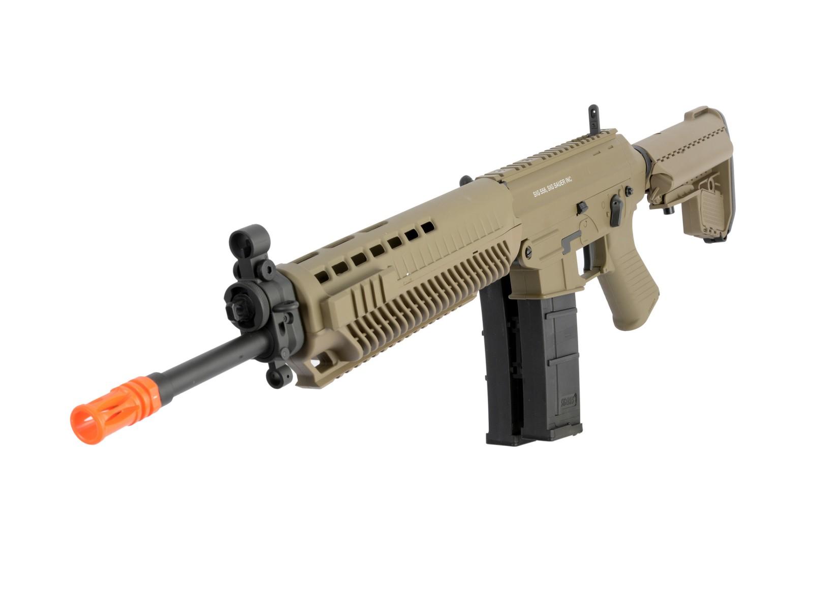 SIG Sauer Sig Sauer 556 Full Metal AEG Airsoft Rifle, Tan. Airsoft guns