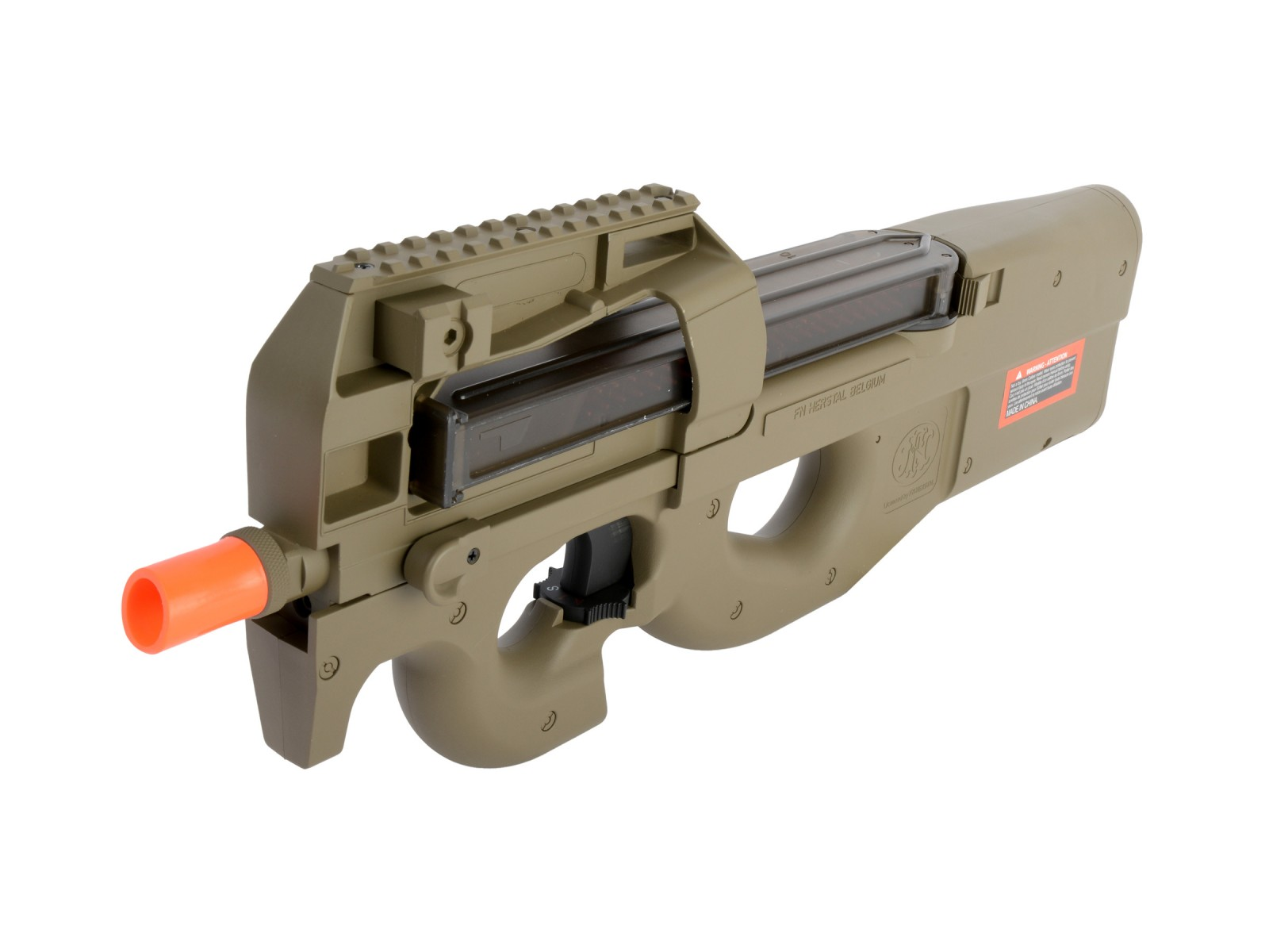 FN_Herstal_P90_AEG_Electric_Airsoft_Rifle_Tan_6mm