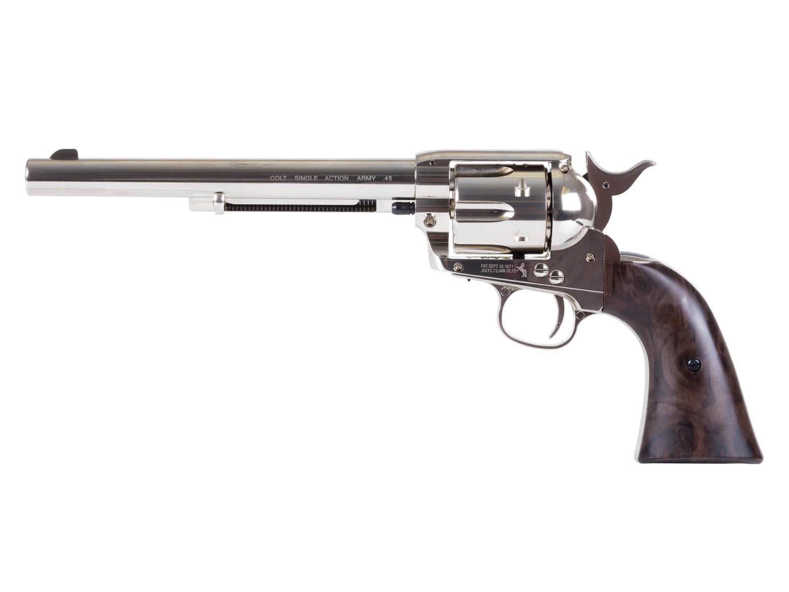 "Colt SAA Peacemaker 7.5"" CO2 Pellet Revolver, Nickel"