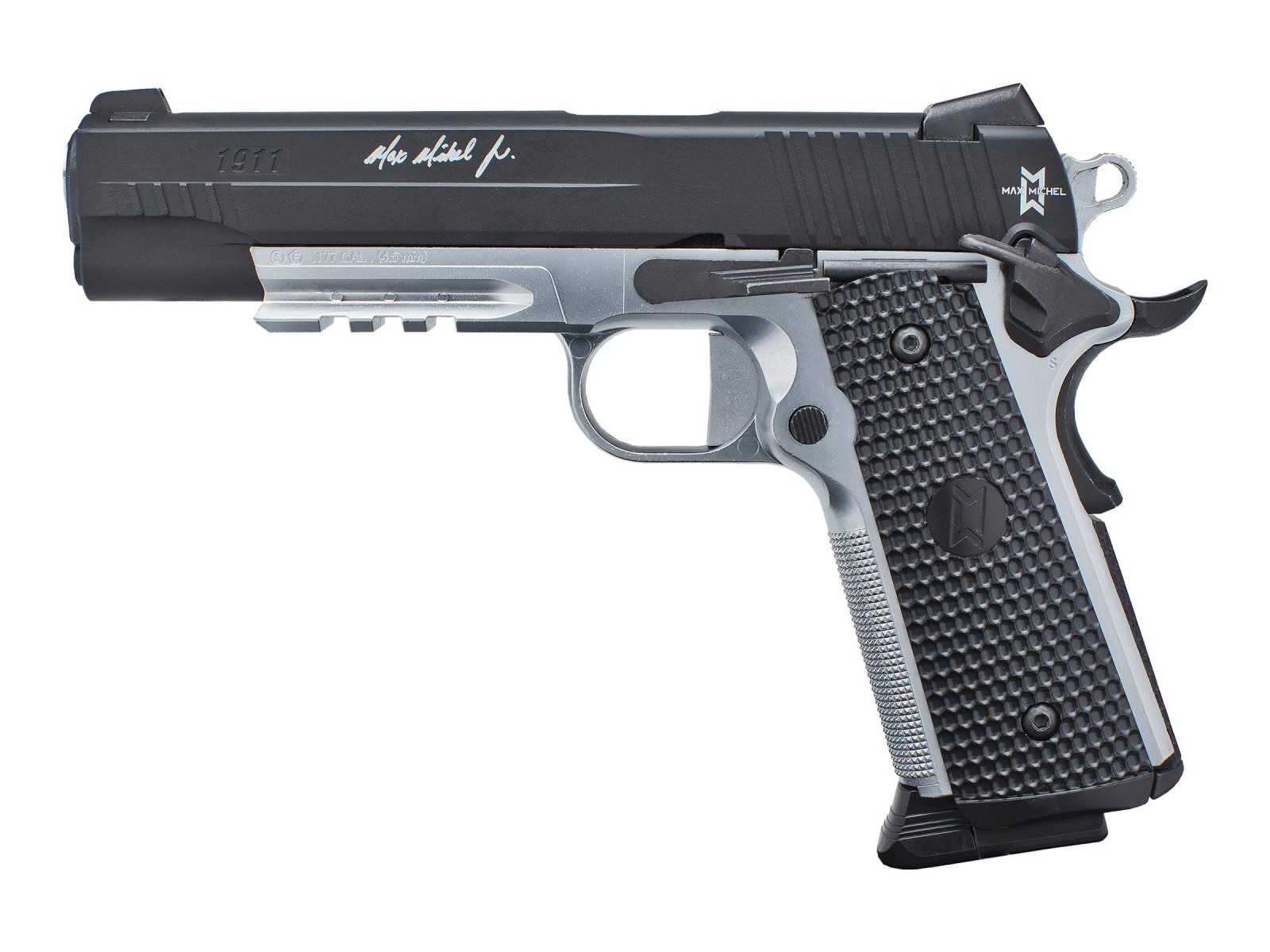 Cheap Sig Sauer Max Michel 1911 Full Metal Blowback CO2 BB Pistol 0.177