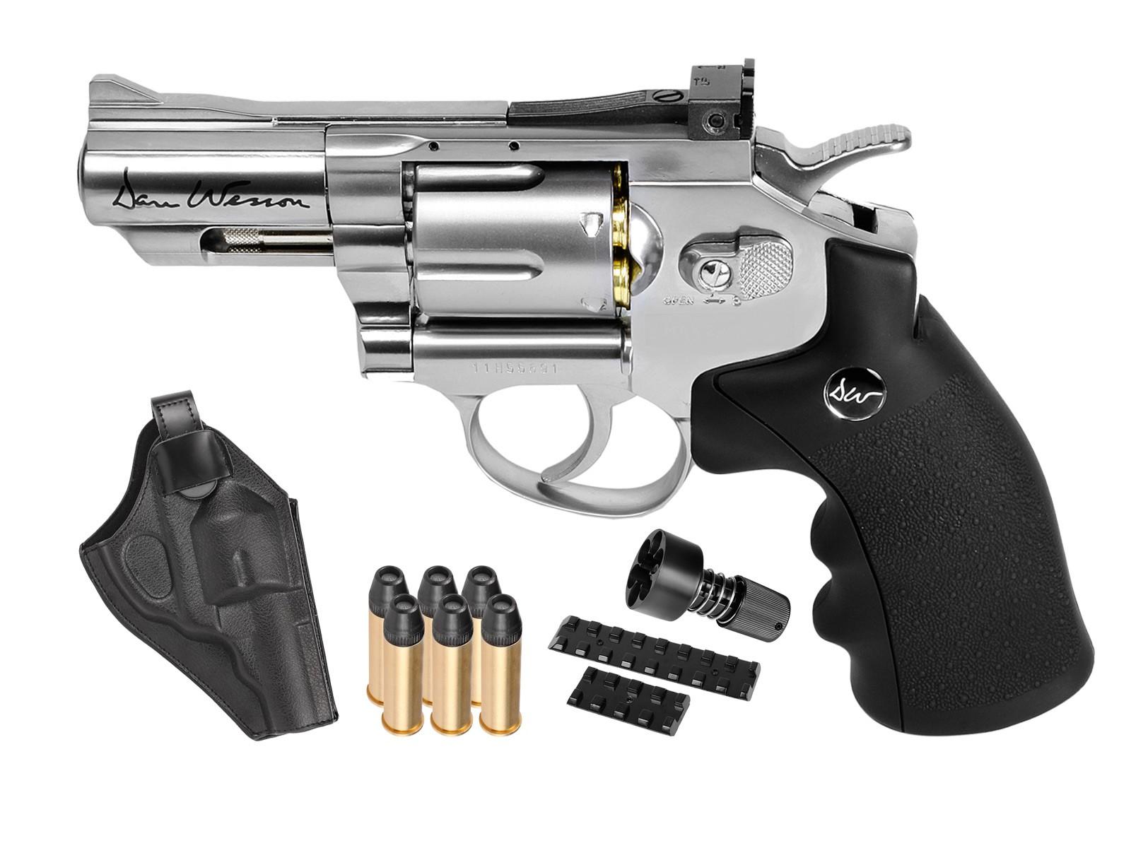 Cheap Dan Wesson 2.5″ CO2 Pellet Revolver Kit, Silver 0.177