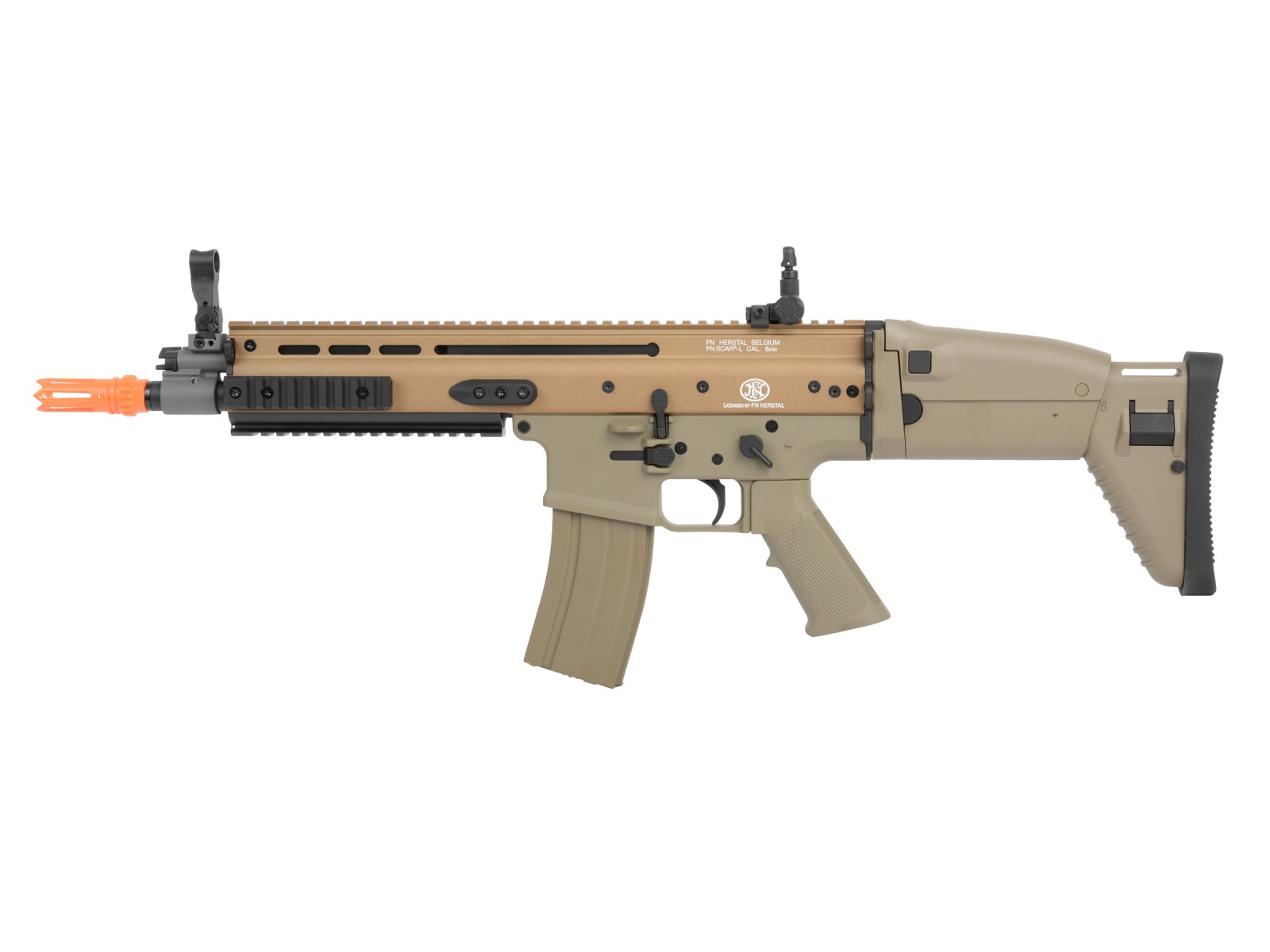 FN_SCARL_Metal_AEG_Airsoft_Rifle_Tan_6mm