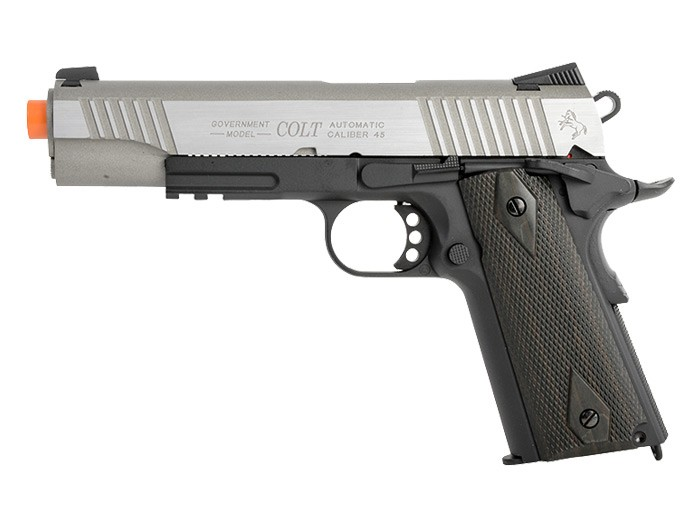 Colt_Government_1911_Airsoft_GBB_Pistol_Silver_SlideBlack_6mm