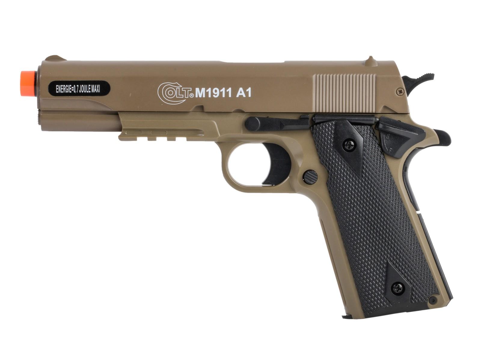 Kit pistolet Airsoft à ressort Colt 1911 avec étui et lunettes 6 mm