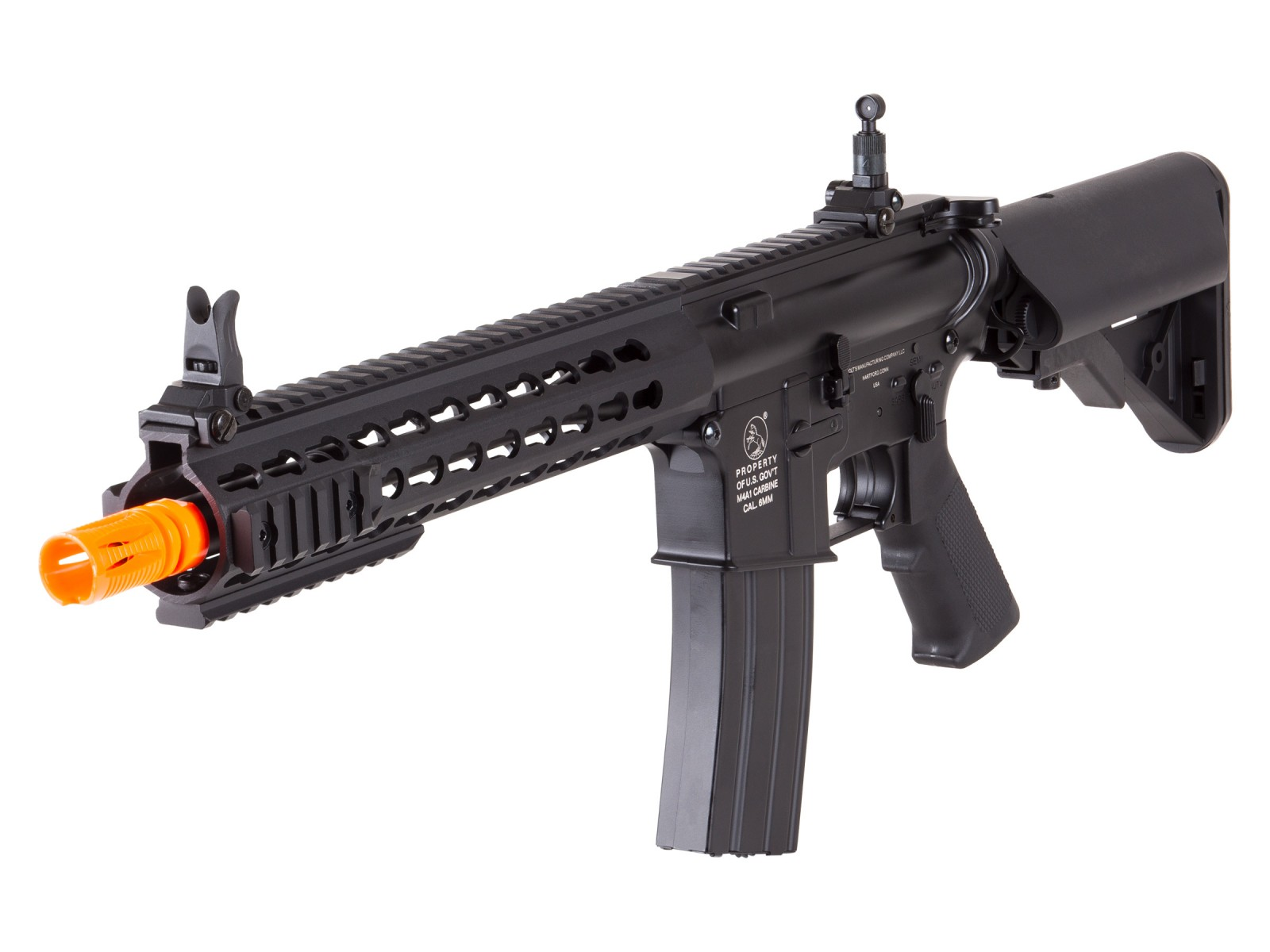 Colt M4A1 Short Keymod Full Metal AEG Rifle, Black