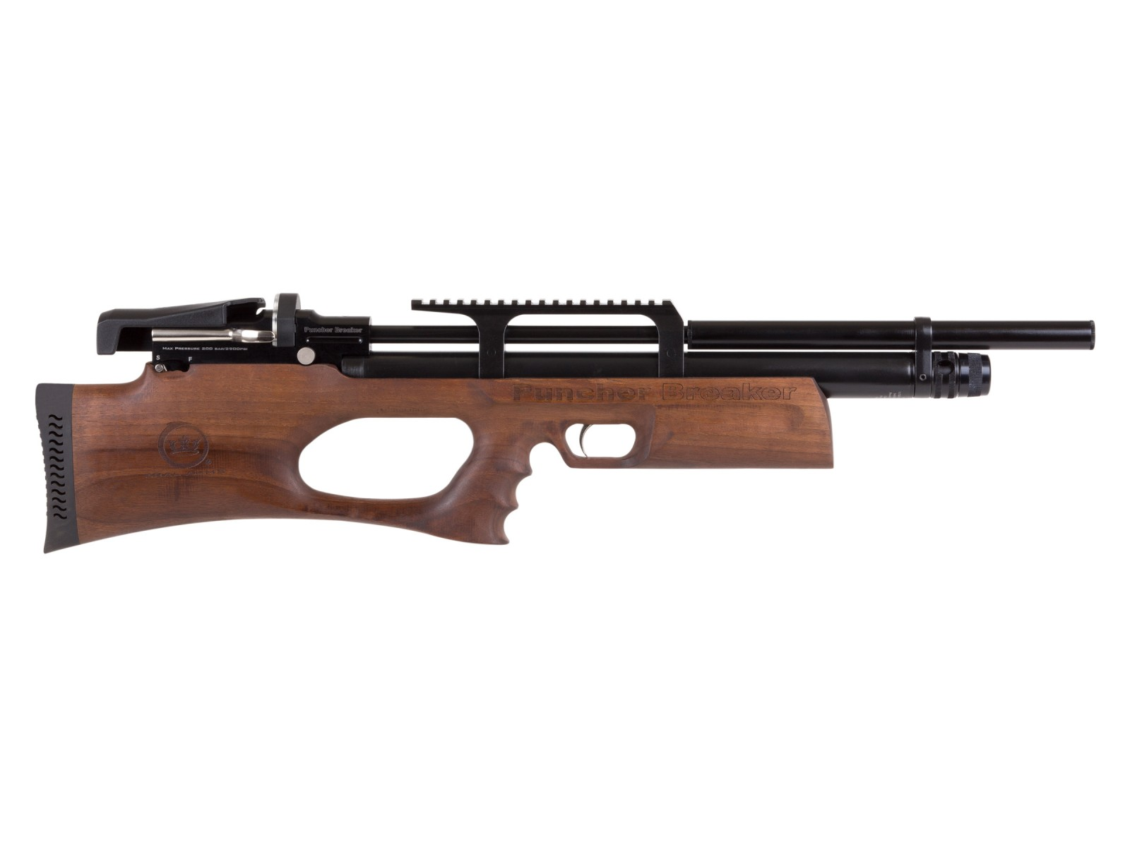 Cheap Puncher Breaker Silent Walnut Sidelever PCP Air Rifle 0.22