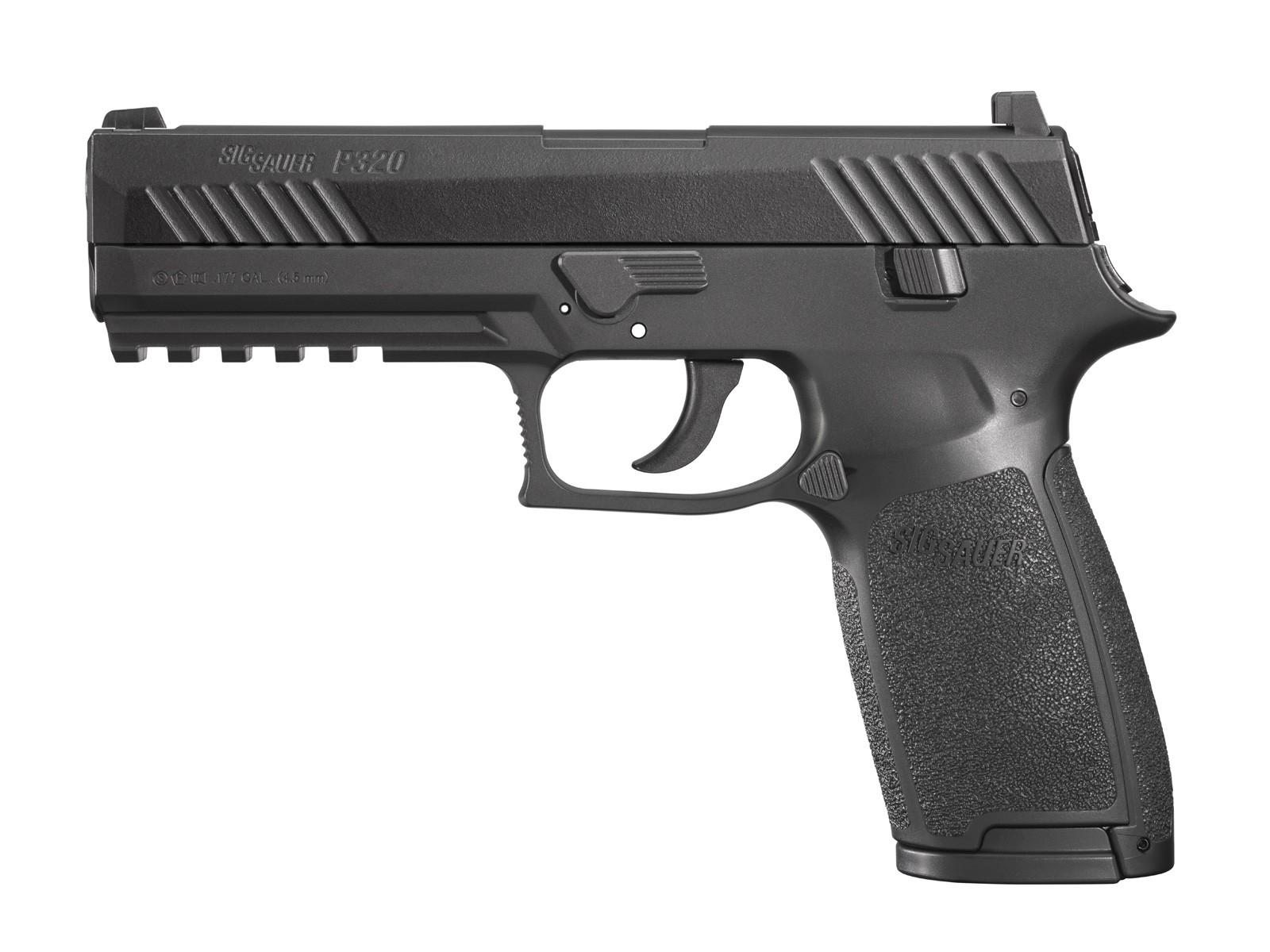 SIG Sauer P320 CO2 Pistol, Metal Slide, Black