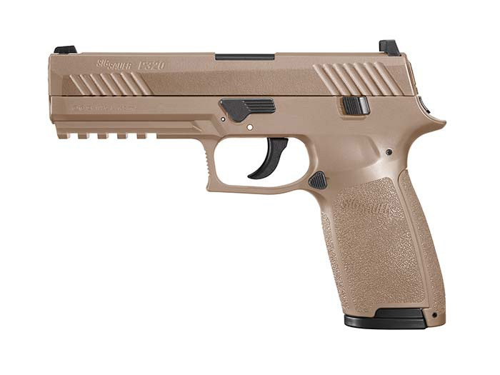 SIG Sauer P320 CO2 Pistol, Metal Slide, Coyote Tan 0.177