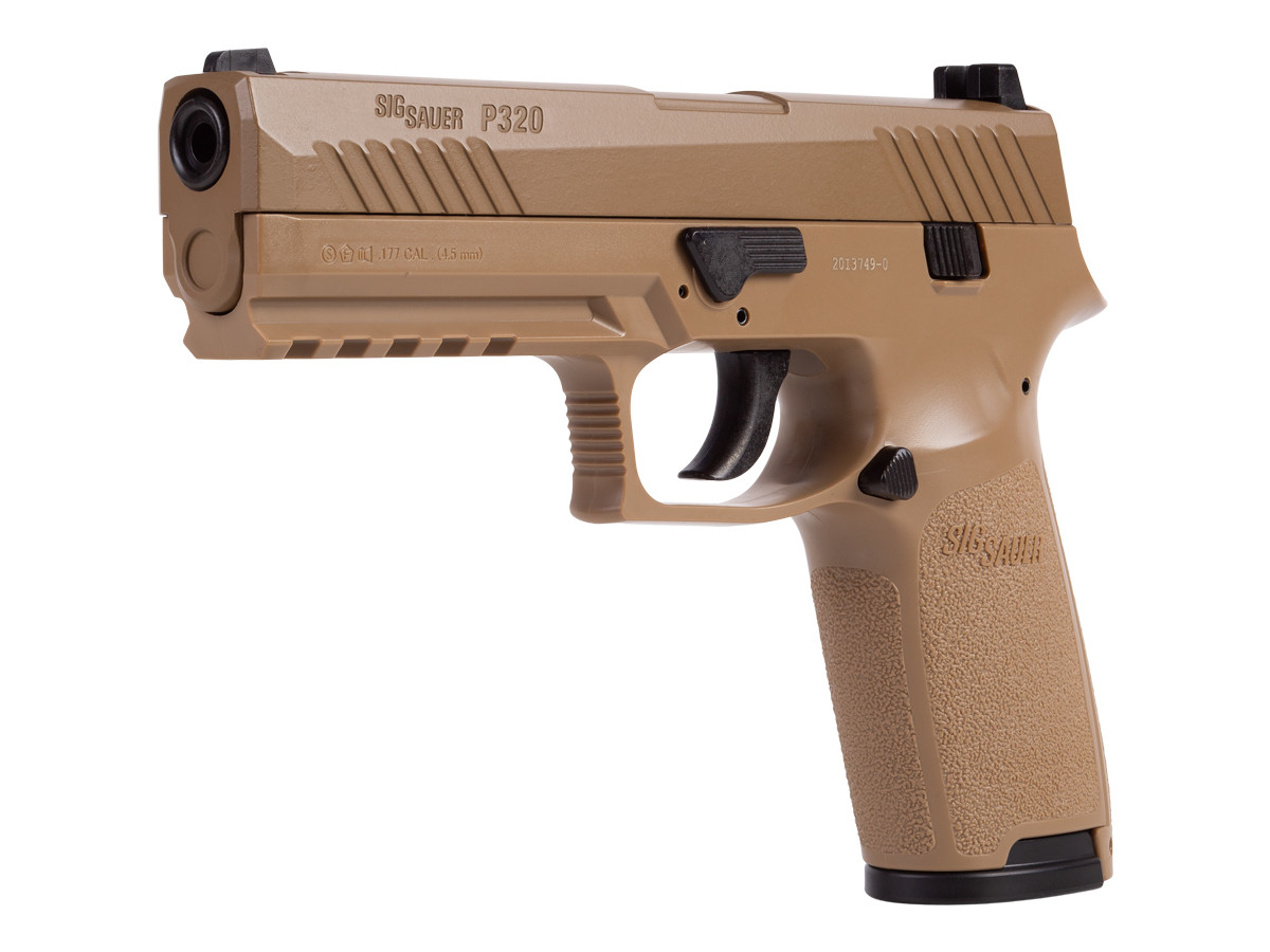 SIG Sauer P320 CO2 Pistol, Metal Slide, Coyote Tan