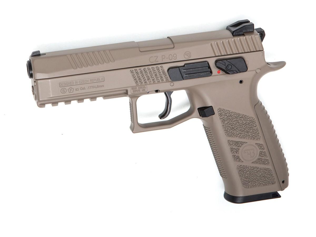 CZ P-09 Duty CO2 Pistol, FDE 0.177 Image