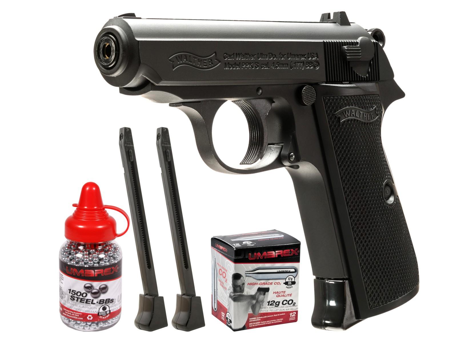 walther legends ppk s black bb pistol kit air guns pyramyd air rh pyramydair com Walther PPK Pistol James Bond with Walther PPK S