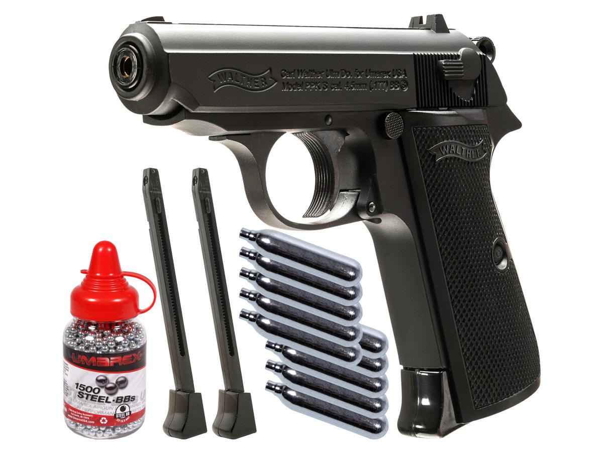 Walther Legends PPK/S Black BB Pistol Kit