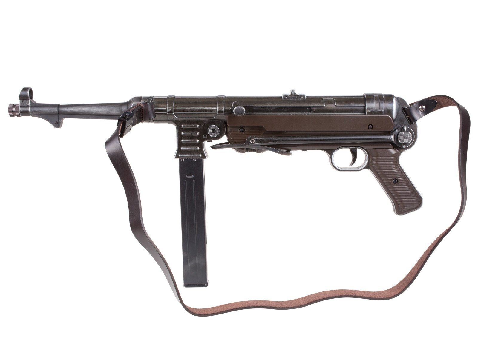 Weathered Legends MP40 BB Submachine Gun w/ Leather Strap